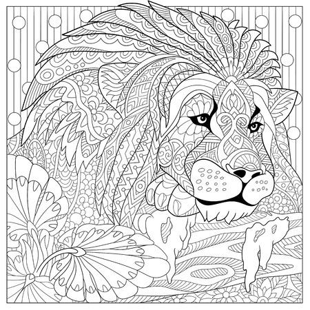 stilisierten Cartoon-Löwen (Wildkatze, Leo Stern)