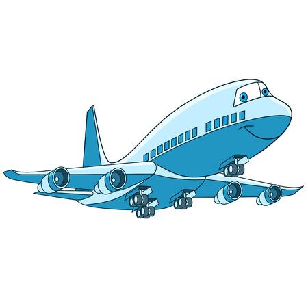 Conjunto De Transporte De Vuelo De Dibujos Animados. Colección De ...