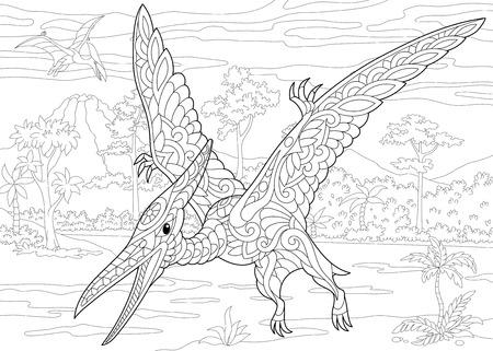 Dinosaurio Estilizado Del Tyrannosaurus (t Rex) Del Período Cretáceo ...
