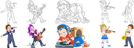 Cartoon people set