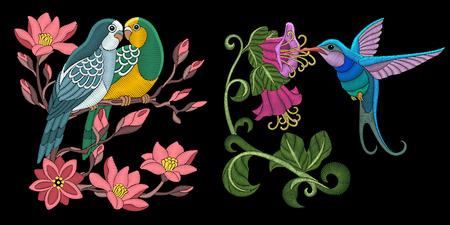 Embroidery bird designs