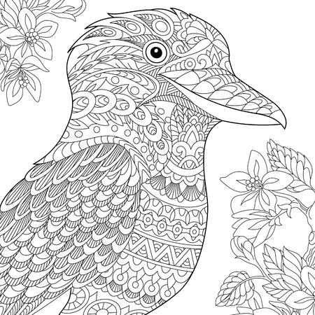Colouring Pages Kookaburra : 84 kookaburra stock illustrations cliparts and royalty free