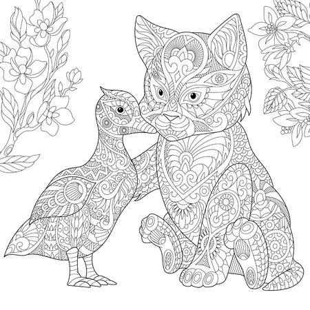 Kleurplaten Voor Volwassenen Konijn.Kleurplaat Van Keizerpinguinen Ijsberen En Meeuwen Freehand