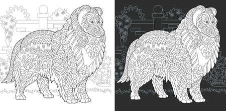 Dog. Coloring Page. Coloring Book.