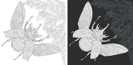 Bug. Coloring Page. Coloring Book. Ilustração