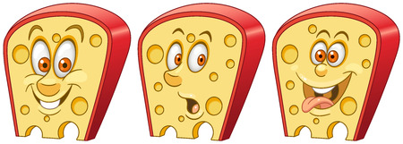 Cheese. Fast Food concept. Emoji Emoticon collection. Cartoon characters for kids coloring book, colouring pages, t-shirt print, icon, label, patch, sticker. Banco de Imagens - 112821080