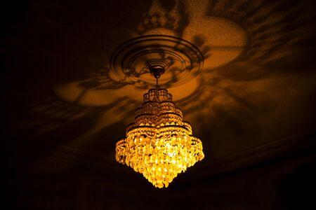 crystal chandelier: Shot of a crystal chandelier