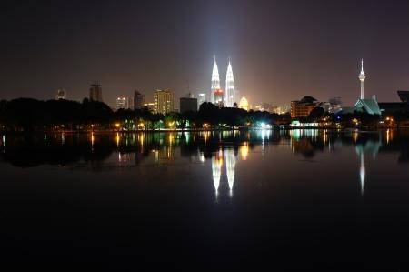 kuala lumpur city: Kuala Lumpur skyline Stock Photo