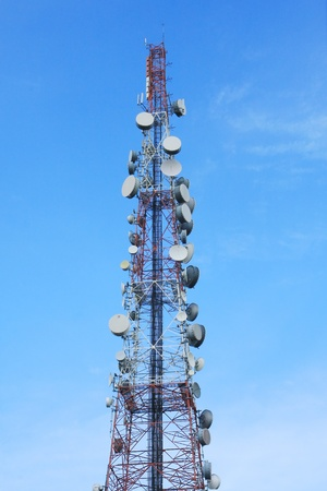 telecom tower and blue sky Stock Photo - 9882849