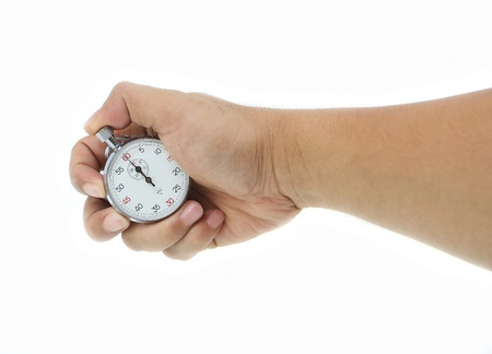 hand man with stop watch Stock Photo - 10000655