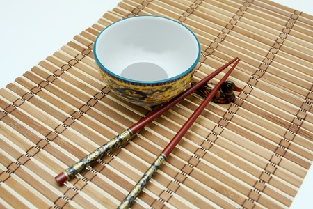 chop stick: traditional food from ancients china Stock Photo