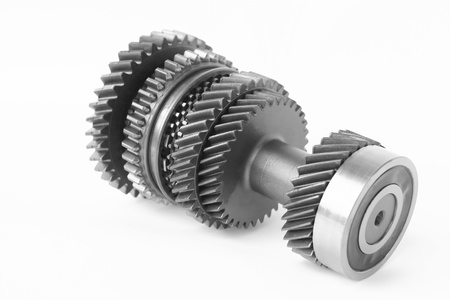 spare parts: car control gear in isolated Stock Photo