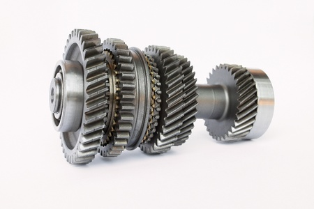 spare car: used gear for replace in car engine Stock Photo