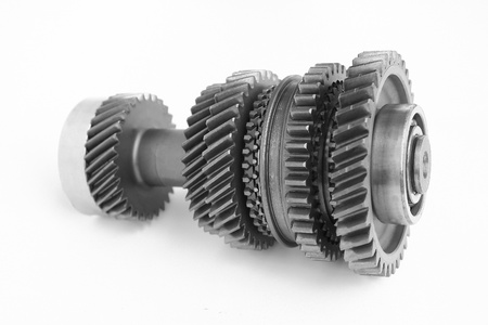 spare parts: mechanical gear photo in BW