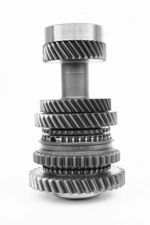 machine part: automobile gear on isolated background