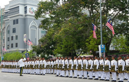 KUALA LUMPUR-SEPT 16:Malaysia Defence Forces participate in National Day and Malaysia Day parade, celebrating 54th anniversary of independence on September 16, 2011 in Kuala Lumpur, Malaysia.               Editorial