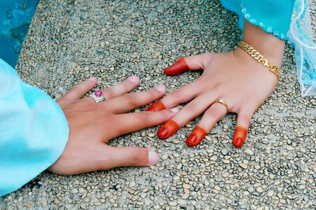 two hand bride with rings Stock Photo - 10735248