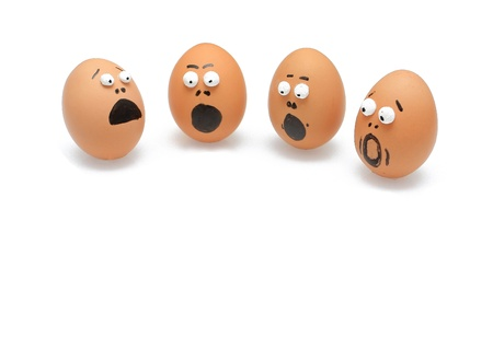 oops: group of eggs was surprised themselves