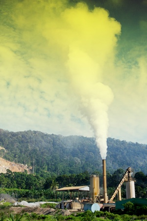 air pollution an industries and factory photo