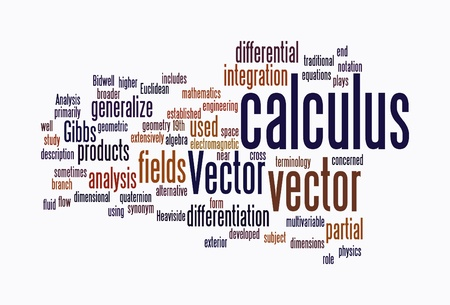 terminology: calculus text clouds on isolated background