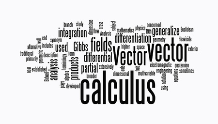calculus: calculus text clouds on white background Stock Photo