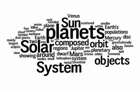 dust cloud: solar text clouds on isolated background