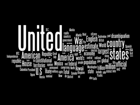 us independance: usa text clouds on isolated background