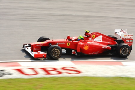 SEPANG - MARCH 23: Felipe Massa of Ferrari F1 team racing during Formula One Teams Test Days at Sepang circuit on March 23, 2012 in Sepang, Malaysia.