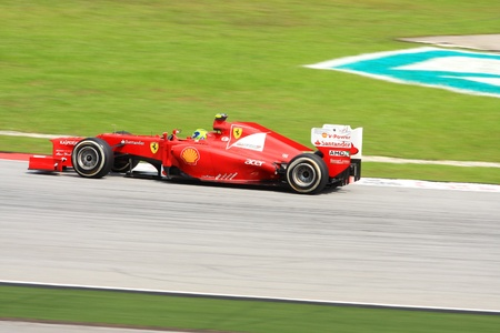 massa: SEPANG, MALAYSIA - MARCH 23 : Ferrari Team driver Felipe Massa action on track during Petronas Malaysian Grand Prix second practice session at Sepang F1 circuit March 23, 2012 in Sepang