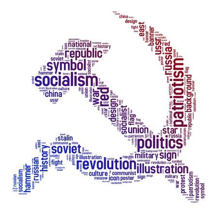 communism: communism symbols text on isolated background