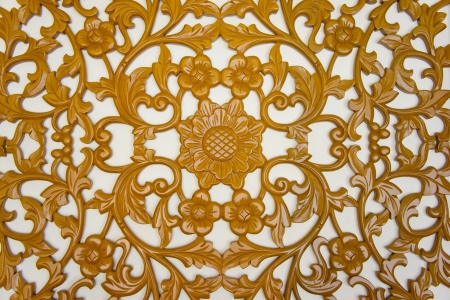 wood carving: filigree wood carvings on isolated background