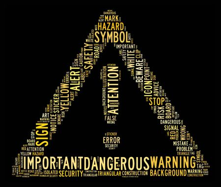 danger sign text clouds on isolated background Stock Photo - 14711302