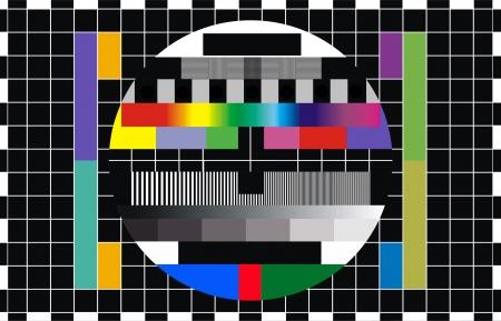 カラフルなパターンのテレビ スクリーンのテスト
