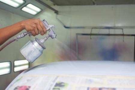 body paint: coche pintura con el color principal Foto de archivo