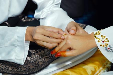 asian sheath wedding ring ceremony Stock Photo - 17276110