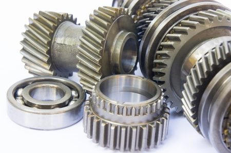 ball bearing: gearbox component on isolated background