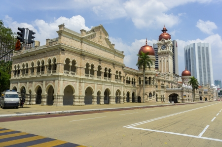 historical landmark: sultan abdul samad building is historical building in malaysia