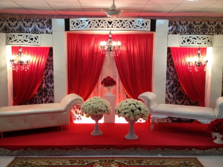 decoration: Traditional wedding stage