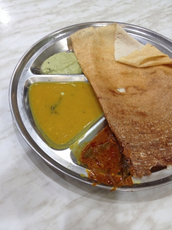 masala dosa: Indian traditional food Stock Photo