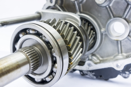 gearbox: part of engine gearbox on isolated background