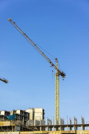 contruction: tower crane on contruction site