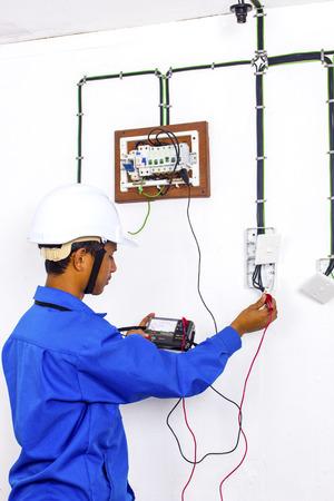 wireman: wireman during testing at serface wiring