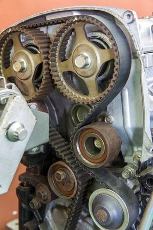 installed timing belt on demo engine photo