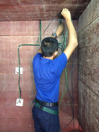 wire: Electrical wiring work