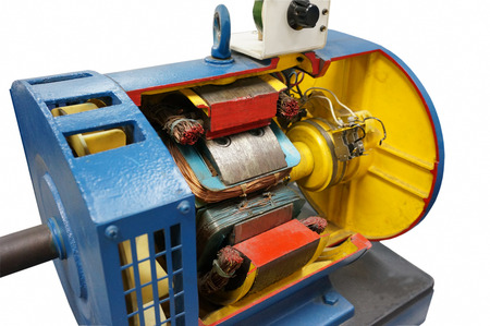 generator: cut way synchronous electric motor in isolated