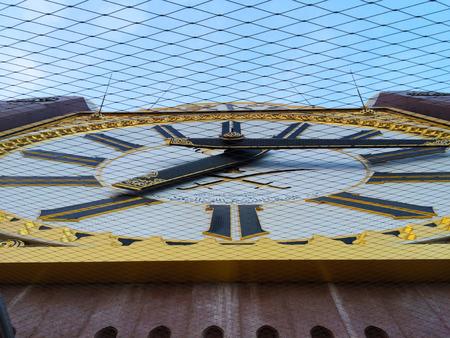 billion: MECCA, S.ARABIA-Dis 21: Abraj Al Bait (closeup giant Clock at Tower Makkah) on Dis 21, 2014 in Makkah. The tower is the tallest clock tower in the world at 601m (1972 feet), built at a cost of USD1.5 billion.