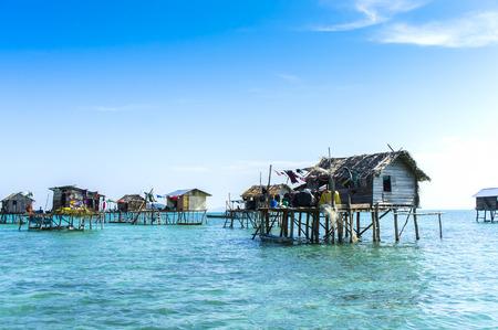 malaysia culture: floating bajau village at sabah malaysia