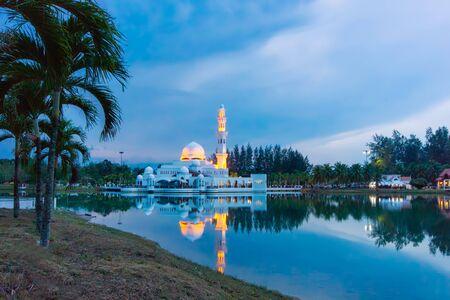 terengganu: floating mosque at kuala ibai terengganu malaysia during twilight time Stock Photo