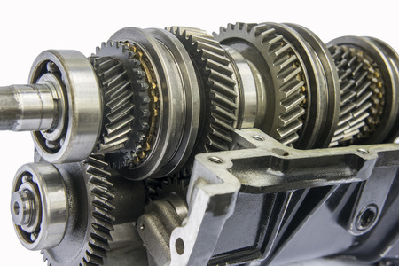 camshaft: transmission shaft gear in oil sum case