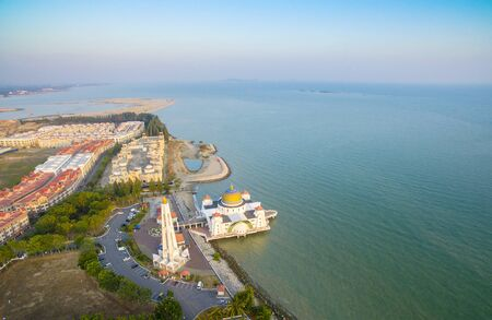 arial views: Malacca Strait shoreline development from arial view